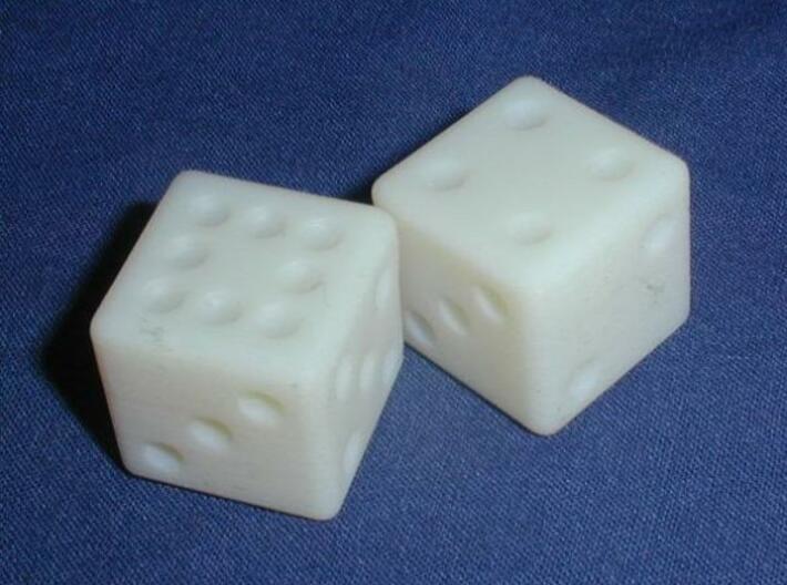 Sicherman Dice 3d printed In White Detail