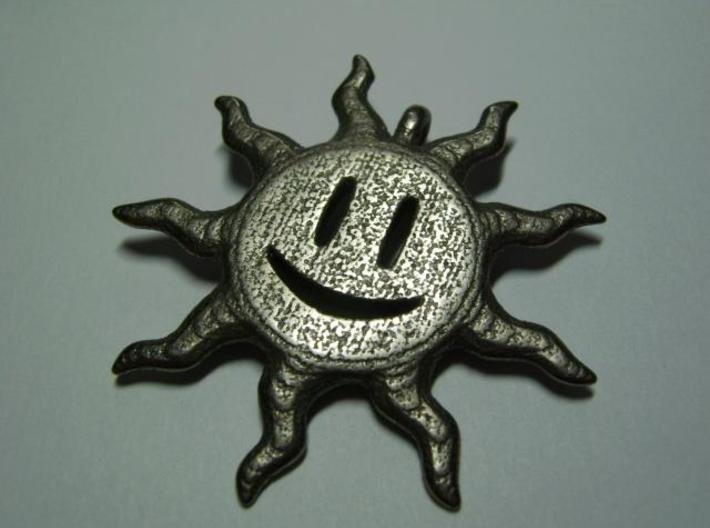 Smiling sun pendant 3d printed Face 1