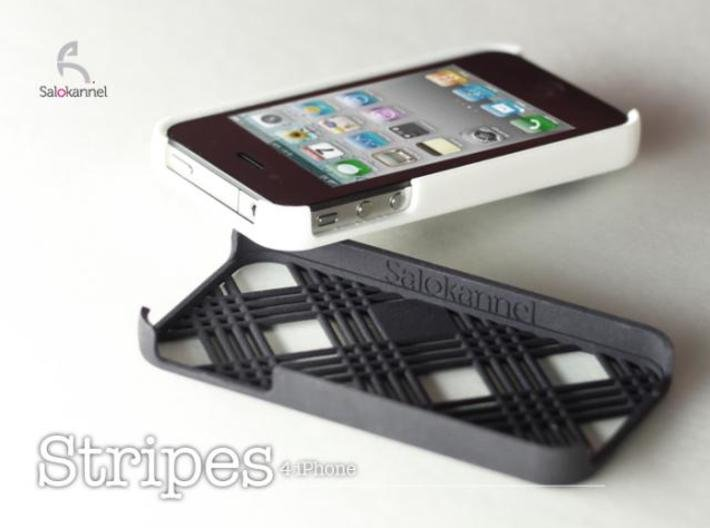 Stripes - case for iPhone 4/4s 3d printed Black and white case