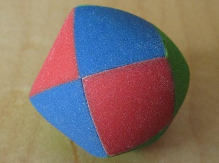 Color Pillowhedron 4cm 3d printed Assembled puzzle (view 1)