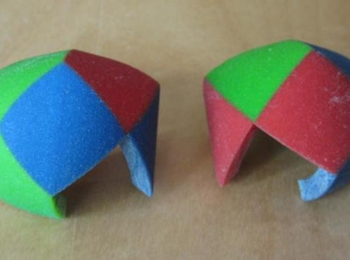 Color Pillowhedron 4cm 3d printed Puzzle pieces (view 1)