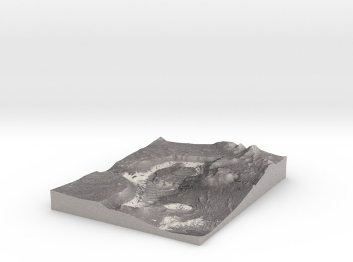 Mars Map: Light Outcrops in B&W 3d printed