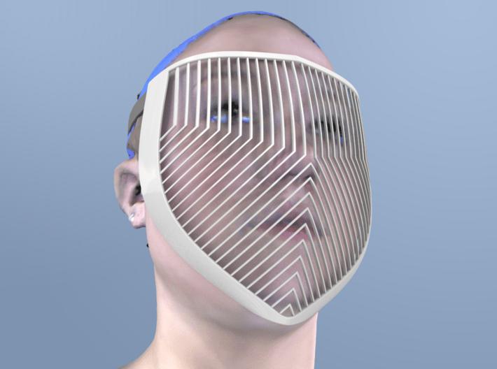 Purple Knight Mask 3d printed
