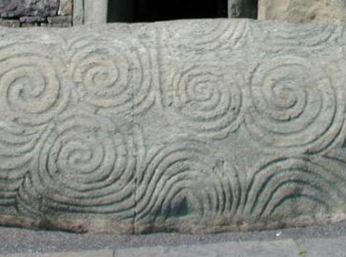 Newgrange Ring 3d printed Newgrange Entrance stone
