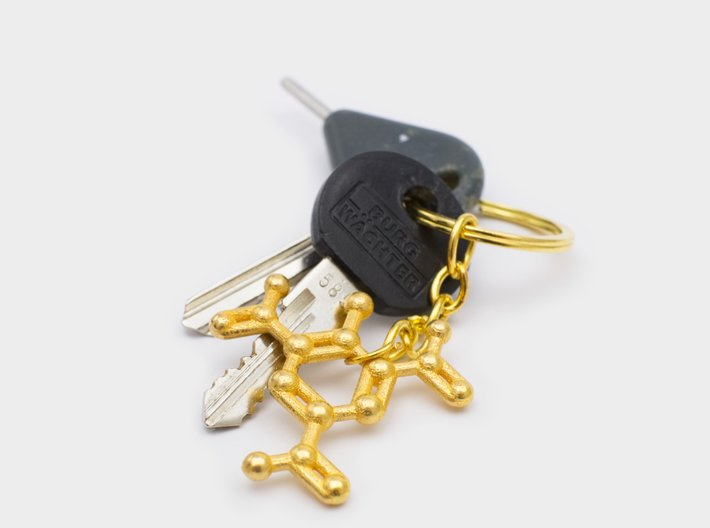 TNT Molecule Keychain Necklace 3d printed TNT molecule key chain