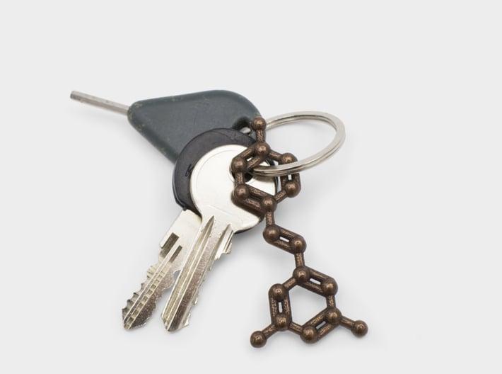 Resveratrol (Red Wine) Molecule Keychain 3d printed Resveratrol key chain