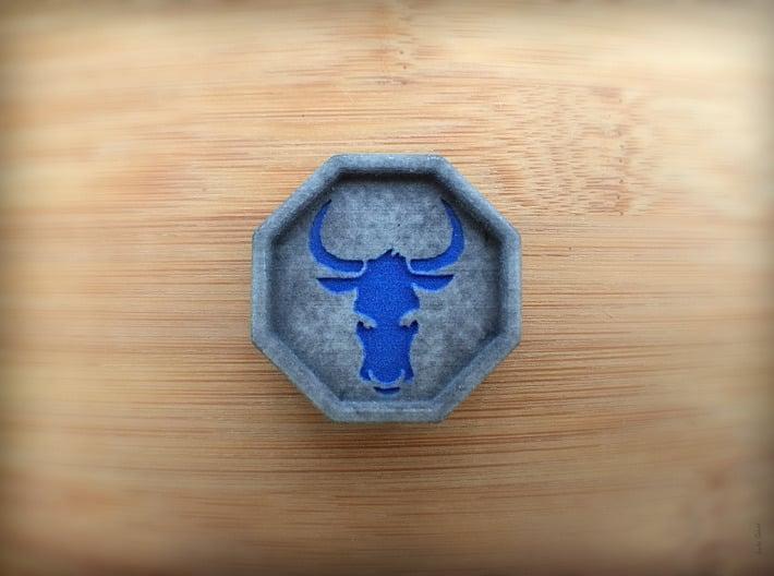 Bull Talisman 3d printed