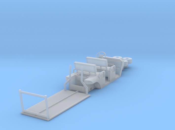 HO/1:87 Buggy, 2 seating rows, kit 3d printed