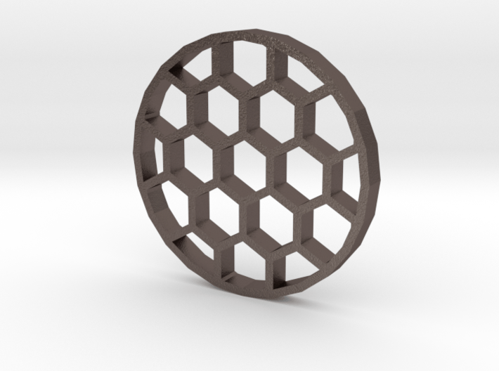 30mm Honeycomb Kill Flash (Stainless Steel) 3d printed
