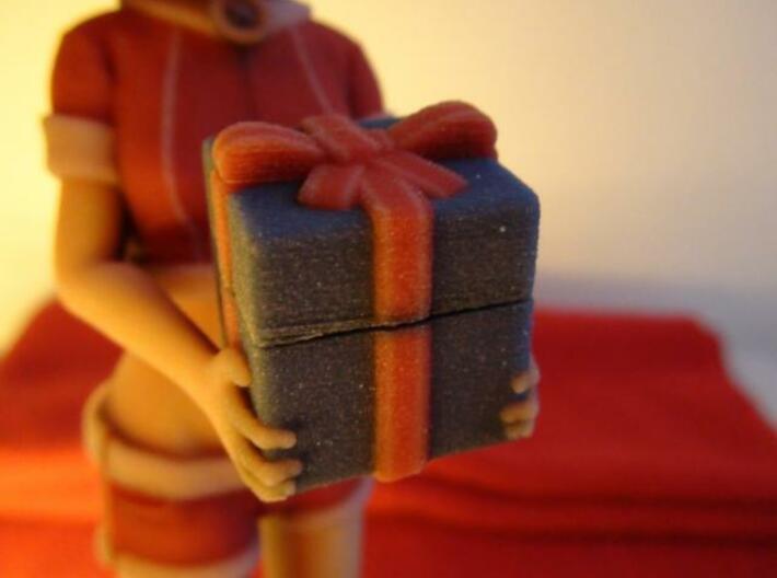 """""""Santa Girl"""" Figure (Full Color) 3d printed Present Box"""