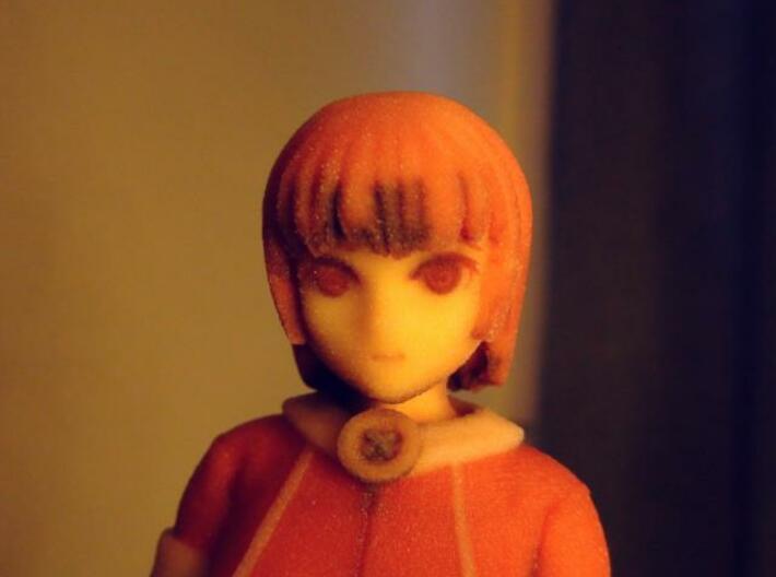 """Santa Girl"" Figure (Full Color) 3d printed Face Close Up"