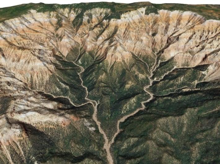 Cedar Breaks National Monument Map, Utah 3d printed