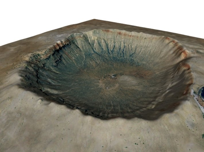 Meteor Crater Map, Arizona: 8 Inch 3d printed
