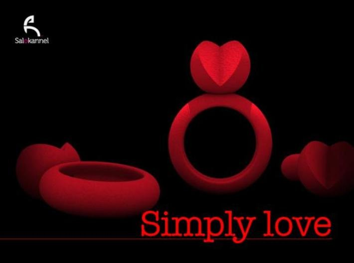 SIMPLY LOVE - size 6 3d printed SIMPLY LOVE
