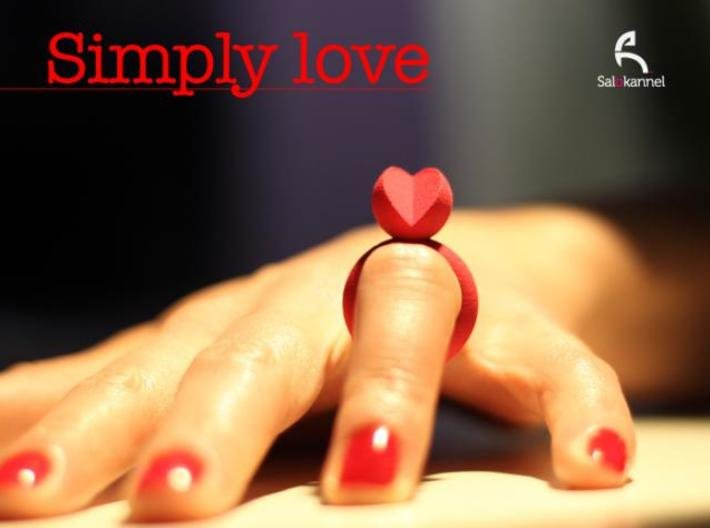 SIMPLY LOVE - size 7 3d printed Photo