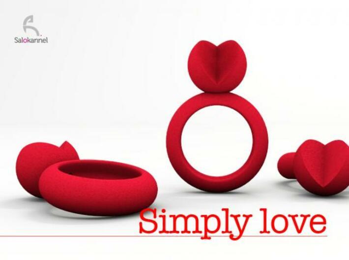 SIMPLY LOVE - size 8 3d printed Description