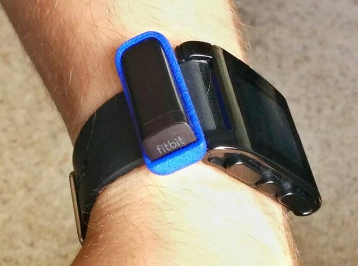 Watchband Holder for Fitbit Flex - Pebble Version 3d printed