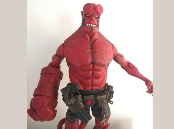 "Mezco Hellboy Breakapart Pistol 6"" Scale 3d printed"