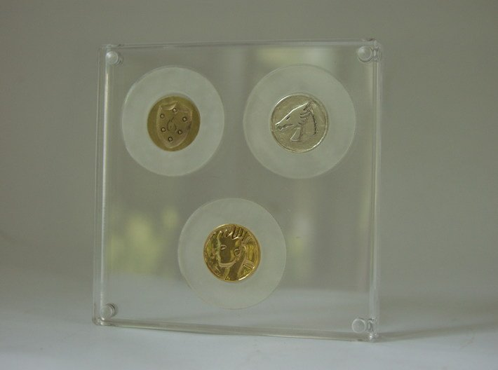 Coin Adapters 21mm to 39mm 3d printed Coin Adapters in the holder