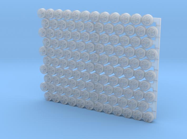 3203 - 1/32 padeyes w/closed bottom, 120 pcs. 3d printed