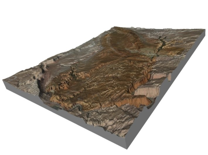 """Arches National Park Map: 8.5""""x11"""" 3d printed"""