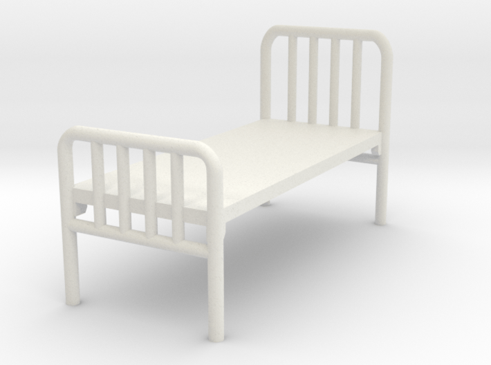 1:72 Hospital Bed 3d printed