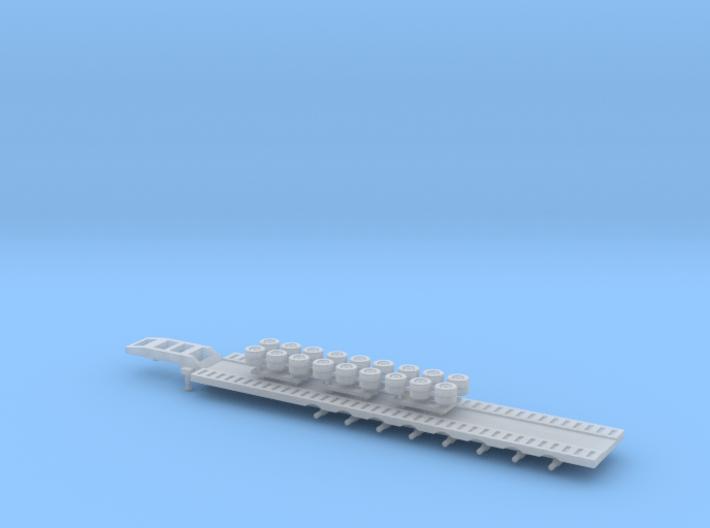 N Gauge Articulated Lorry Train Trailer 3d printed