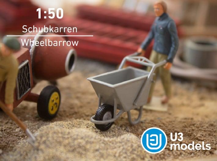 1:50 Schubkarren / Wheelbarrow / Carretilla 3d printed