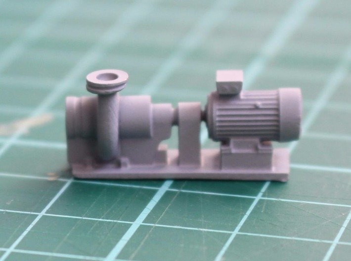 Centrifugal Pump #2 (Size 3) 3d printed Pump unit with a coat of primer on