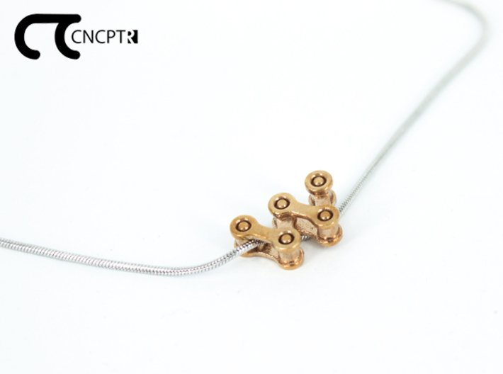 Concept R Chain Pendant 3d printed