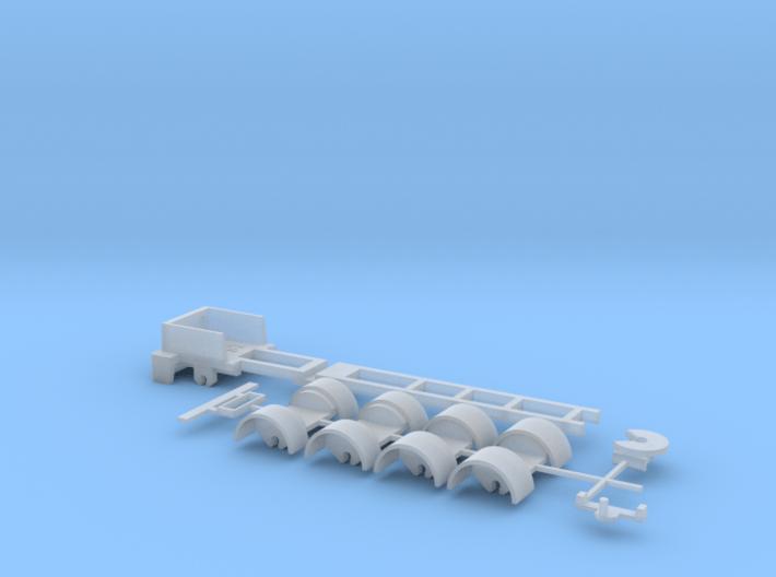 kompletter Rahmen 5ax Spur N 1:160 3d printed
