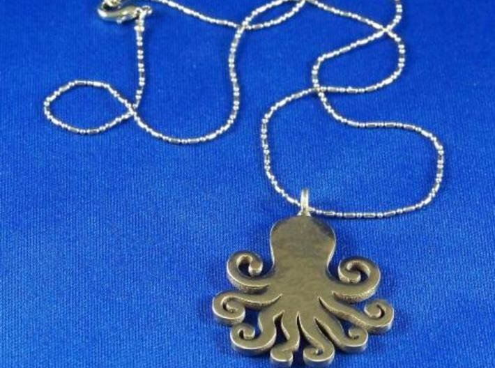 Octopus pendant/keychain 3d printed