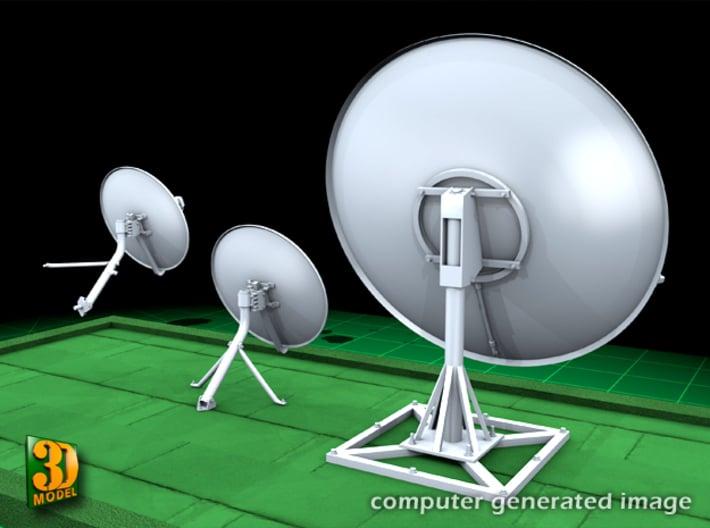 Satellite dish (30+60mm) - set 3d printed Satellite dish set (2x30mm+60mm)