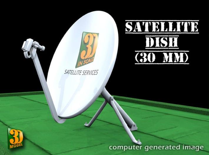 Satellite dish (30+60mm) - set 3d printed Satellite dish set (2x30mm+60mm) - 30mm