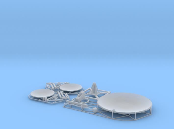 Satellite dish (30+60mm) - set 3d printed