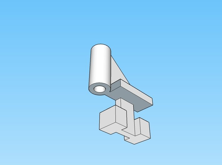 DMIR Bracket-48 Count-HO Scale 3d printed Image of one of the brackets