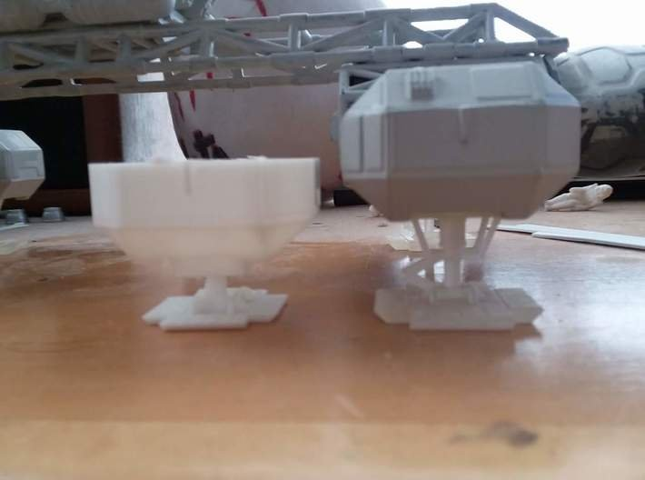 """Moongear set of four for 12"""" Eagle Kit! 3d printed Kit supplied part on the left, this product on the right. Courtesy of Paul Costello."""