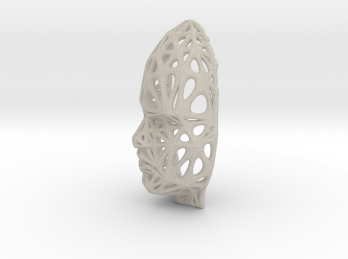 Female Voronoi Face (Sandstone) 3d printed Female Voronoi Face (Sandstone)