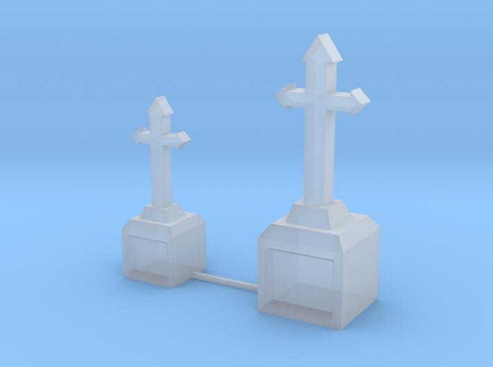 Tombstone Crosses 3d printed