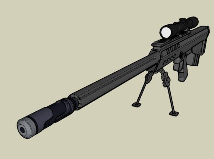 Vanquish Sniper Airsoft Silencer (14mm Self-Cuttin 3d printed