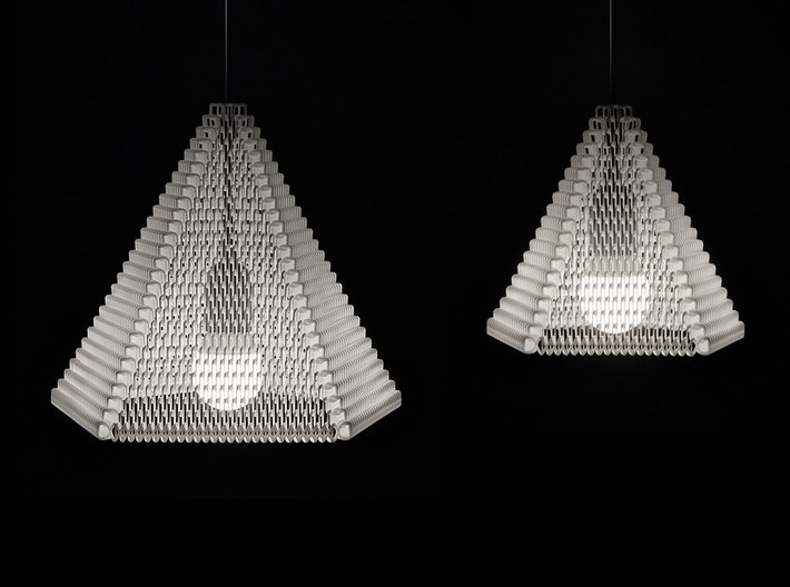 ZooM lampshade M - 19 rows 3d printed Zoom large (27 rows) + small (19 rows) comparison