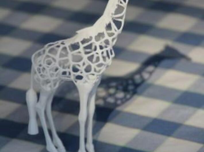Voronaffe: Voronoi Giraffe with spheres inside 3d printed Voronaffe in WSF