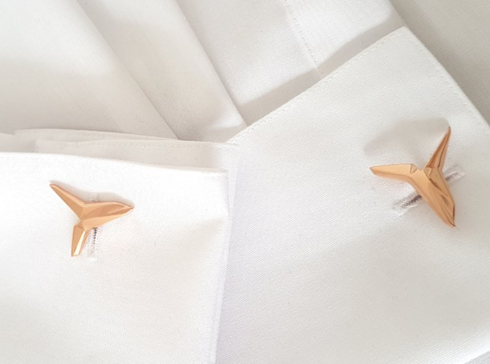 YOUNIVERSAL Asymetric, Cufflinks 3d printed
