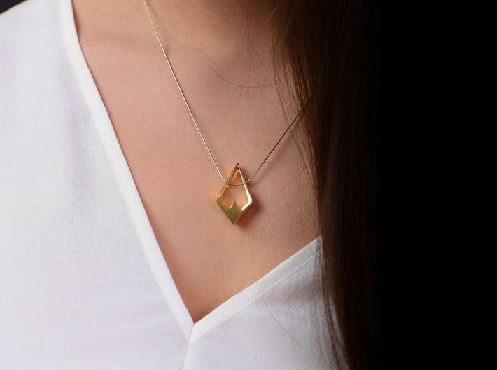 HIDDEN HEART Aurora, Pendant. Pure Elegance 3d printed