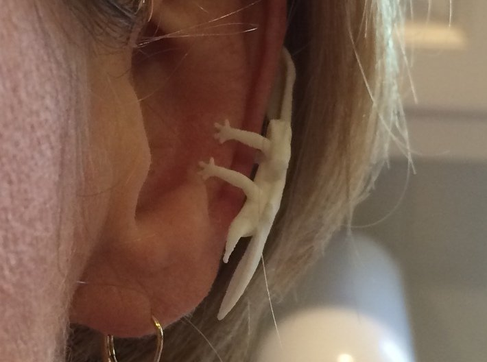 Dragon Cuff Earring Left 3d printed New Version with stronger thicker and better designed limbs.
