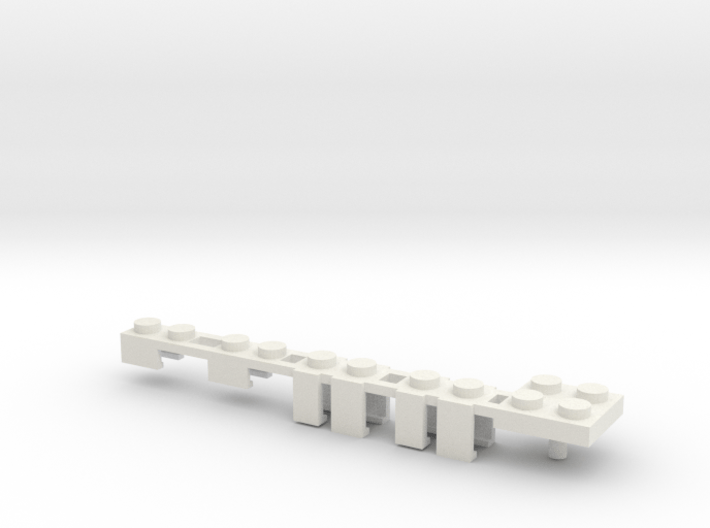 Building Block Interface for Action Figures: Set B 3d printed