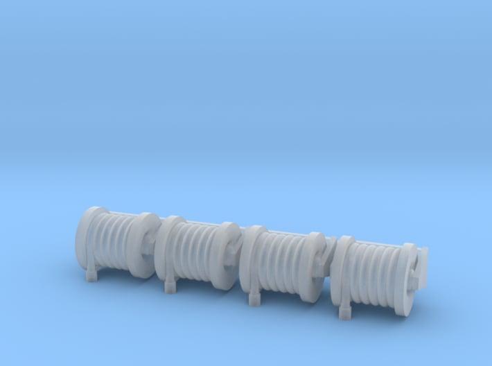 Hose Reel Large Fixed Simulated Hose Set 1-87 HO S 3d printed