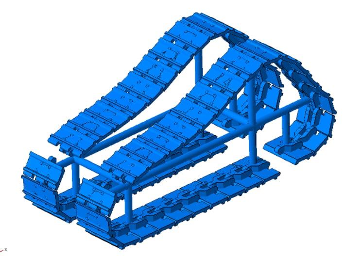 1/64th Tracks for Ertl Norscot Cat D6 dozer 3d printed