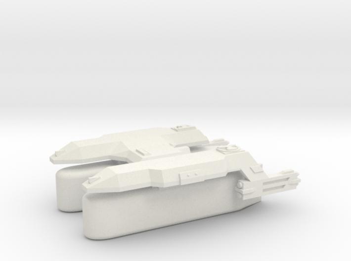 3125 Scale LDR Transport Tug (Klingon Pods) CV 3d printed