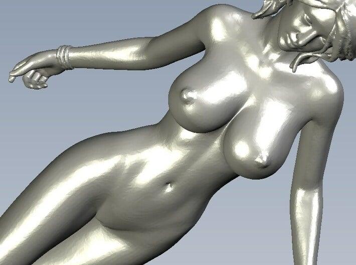 1/24 scale nude beach girl posing figure B 3d printed